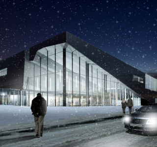 Concept Drawing of the Mill Woods Library and Seniors Centre in Edmonton